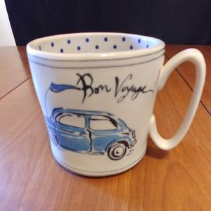 Anthropologie Bon Voyage Coffee Mug